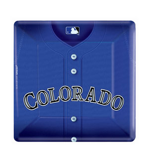 Colorado Rockies Square 10 Inch Plates- 18ct