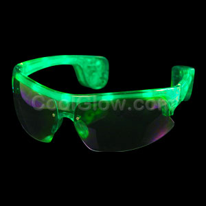 LED Sporty Sunglasses - Green