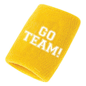 Go Team Sweatbands - Yellow