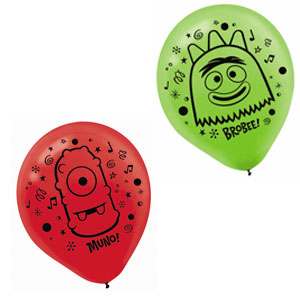 Yo Gabba Gabba Printed Latex Balloons- 6ct