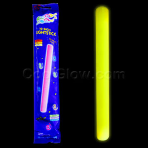 Fun Central O013 12 Inch Glow in the Dark Baton - Yellow