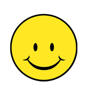 Smiley Face Cutout - 13in