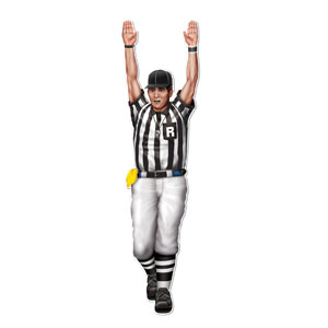 Referee Cutout- 35in
