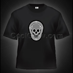 Fun Central C010 LED Light Up Sound Activated T-Shirt - Skull