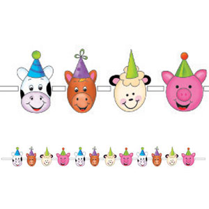 Barnyard Bash Printed Paper Garland- 12ft