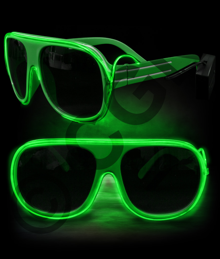 EL Aviator Glasses- Green