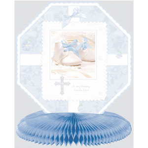 Tiny Blessing Blue Honeycomb Centerpiece- 10in