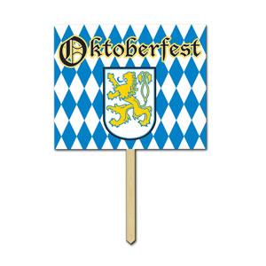 Oktoberfest Yard Sign - 15in