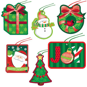 Holiday Friends Tape-on Tags- 36ct