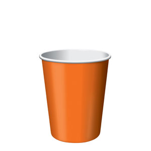 9oz Paper Cups Sunkissed Orange
