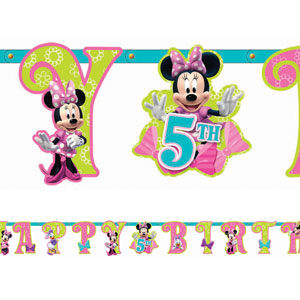 Disney Minnie Mouse Add-An-Age Letter Banner- 10ft