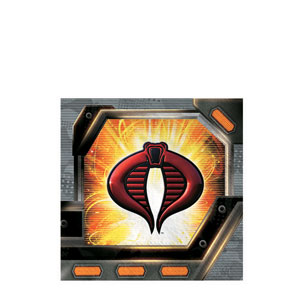 GI Joe Beverage Napkins- 16ct