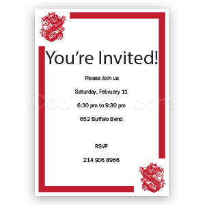 Chinese Dragon - Custom Invitations