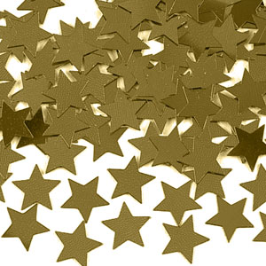Gold Stars Confetti Pack- 0.5oz.