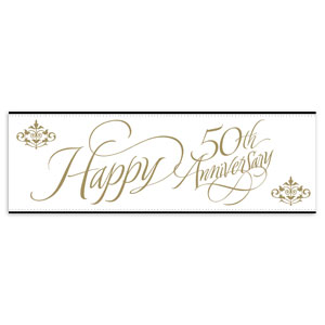 50th Anniversary Party Banner