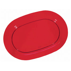 Holiday Red Oval Platter- 16 Inch