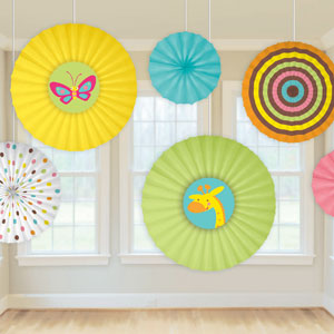 Fisher Price Baby Shower Paper Fans - 12ct