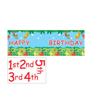 Jungle Buddies Giant Party Banner with Stickers