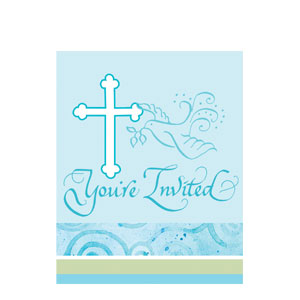 Joyous Faith Invitations - Blue