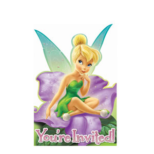 Disney Tinkerbell Invitations- 8ct