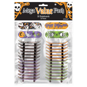 Halloween Mini Skateboards Value Pack- 30ct