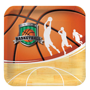 Basketball 9 Inch Square Plates