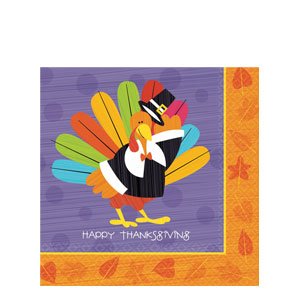 Fun Turkey Plastic Table Cover- 102 Inch