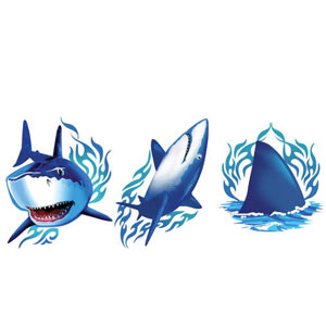 Shark Splash Tattoo Assortment- 24ct