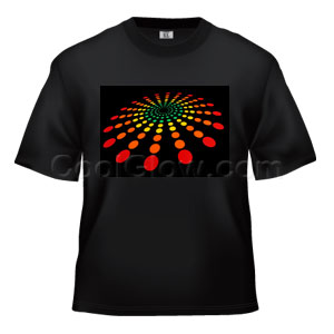 LED Sound Activated T-Shirt - Multicolor Circles