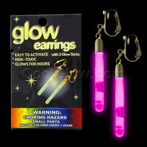 Glow Pendant Earrings - Pink