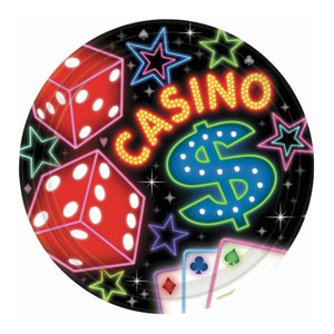 Casino Party 10 Inch Plates- 8ct