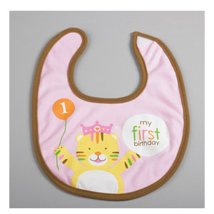 Sweet at One Girl Fabric Bib