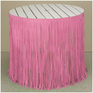 Pink Fringe Tableskirt