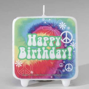 Tie Dye Fun Printed Candle