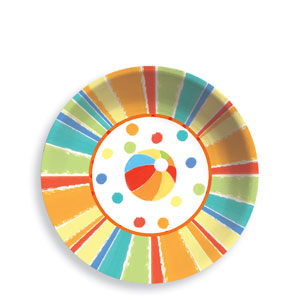 Sunshine Stripes 6 Inch Plastic Bowl