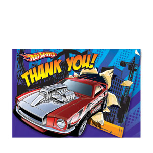 Hot Wheels Thank You Cards- 8ct