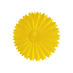 Tissue Fan 10 inch - Yellow