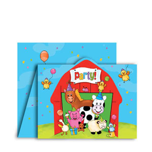Barnyard Bash Gatefold Invitations- 8ct