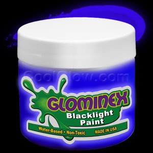 Glominex Blacklight UV Reactive Paint Pint - Blue