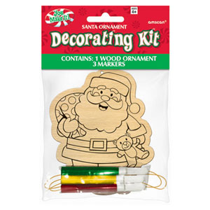 Santa Wood Ornament Kit- 4pc