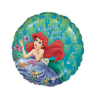 Little Mermaid Happy Birthday Balloon- 18 Inch