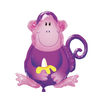 Jungle Party Monkey Balloon- 28in