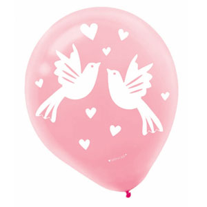 Wedding Wishes Bridal Balloon - 12 Inch 20 Ct