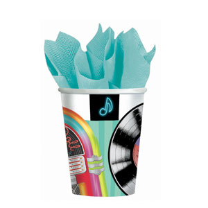 Sock Hop 9 oz. Cups- 8ct