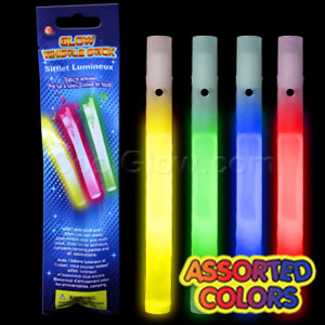 Glow Whistles 6 inch - Assorted