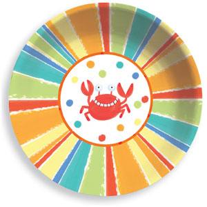Sunshine Stripes 12 Inch Plastic Bowls