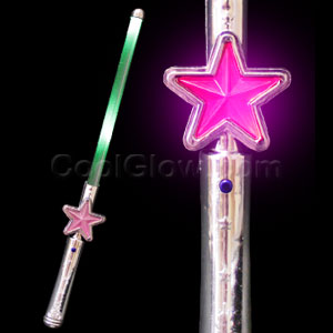 LED Light Up Star Wand - Multicolor