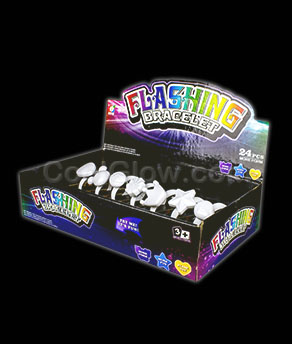 LED Flashing Bracelets - White