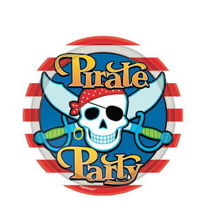 Pirate Party 7 Inch Plates- 8ct