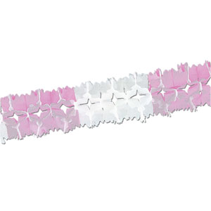 Pink and White Pageant Garland- 14ft